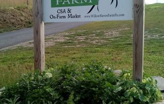Willow Haven Farm CSA Sign