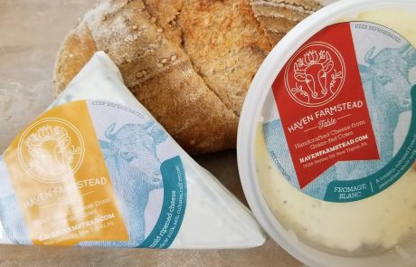 two cheese products with bread
